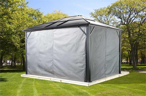 Sojag Curtains for Meridien 10 x 10 ft Grey - Gazebo Not Included
