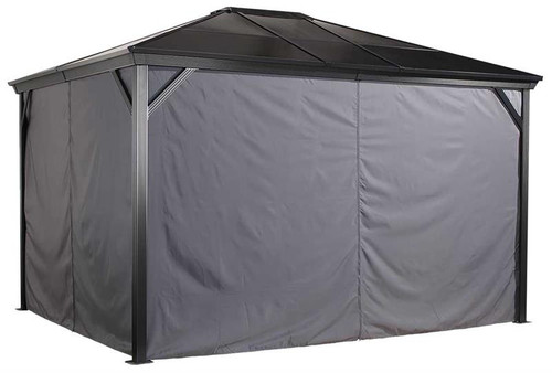Sojag Curtains for Verona 10 x 14 ft Grey - Gazebo Not Included