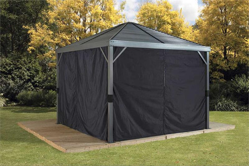 Sojag Curtains for Sanibel 8 x 8 ft Black - Gazebo Not Included
