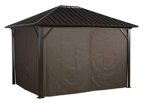 Sojag Curtains for Genova 12 x 12 ft Brown - Gazebo Not Included