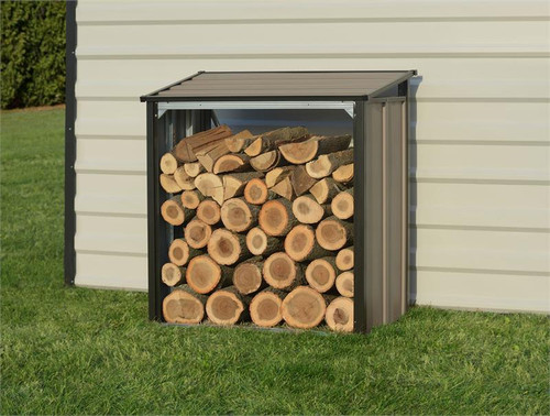 Arrow Firewood Rack 4 x 2 ft. Mocha