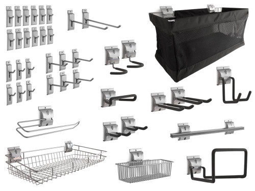 NewAge 40-Piece Steel Slatwall Accessory Kit