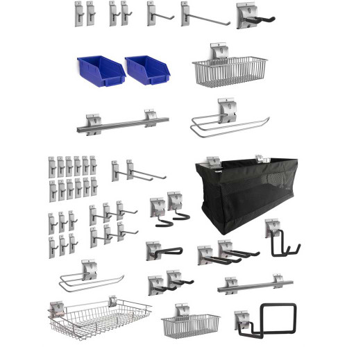 NewAge 52-Piece Steel Slatwall Accessory Kit