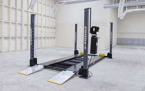 BendPak GP-9F GrandPrix Series 9,000 Lb. 4-Post / Includes Caster Kit, Drip Trays, Mobile Jack Tray, Aluminum Ramps