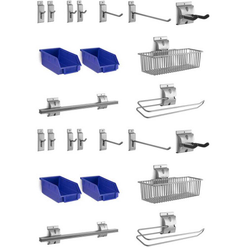 NewAge 24-Piece Steel Slatwall Accessory Kit