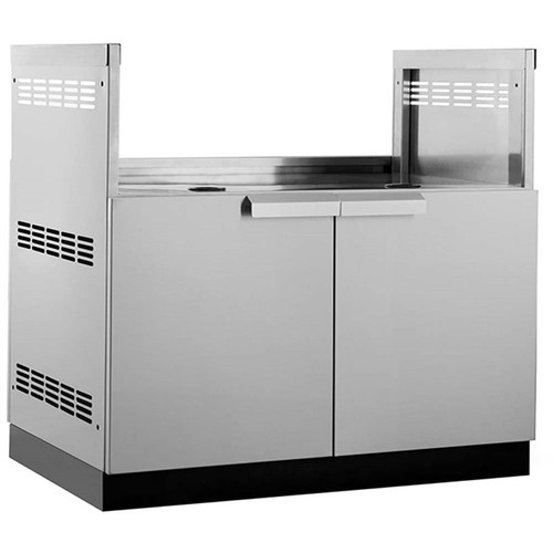 """NewAge Stainless Steel 40""""W x 23""""D Insert Grill Cabinet"""