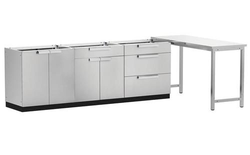 "NewAge Stainless Steel 184""W x 24""D Outdoor Kitchen Set"