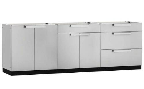 "NewAge Stainless Steel 96""W x 24""D Outdoor Kitchen Set"