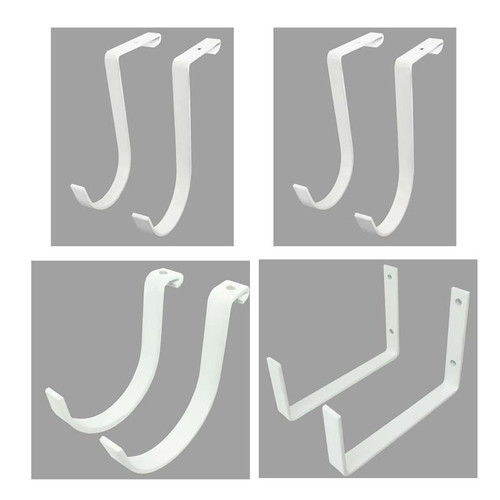 SafeRacks Hook Accessory Package (8-Pack) - White