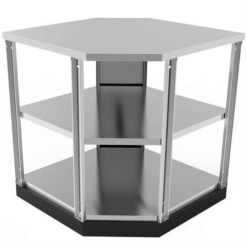 NewAge Stainless Steel 90-Degree Corner Shelf