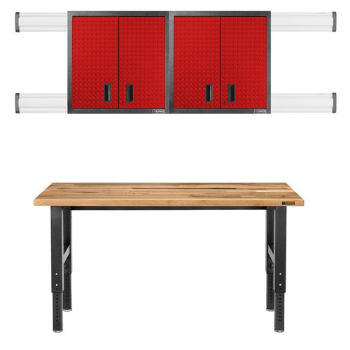 Gladiator Premier Welded Steel Red 3 Piece Set