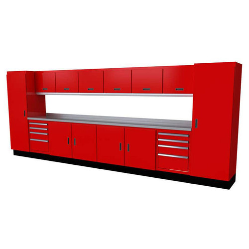 Moduline Select Series 15-Piece Garage Cabinet Set - Red