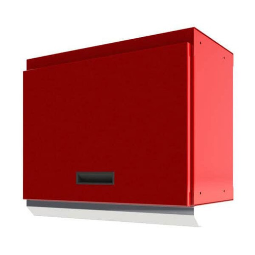 "Moduline Select Series 28""W Aluminum Overhead Cabinet With Light Shield - Red"