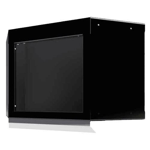 Moduline Select Series Aluminum Open Face Corner Cabinet With Light Shield - Black