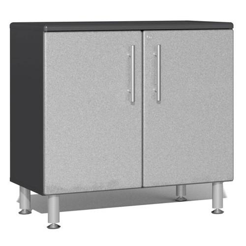 Ulti-MATE Garage 2.0 Series Silver Metallic Oversized 2-Door Base Cabinet