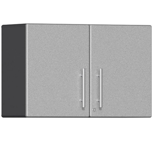 Ulti-MATE Garage 2.0 Series Silver Metallic Oversized Partitioned 2-Door Wall Cabinet