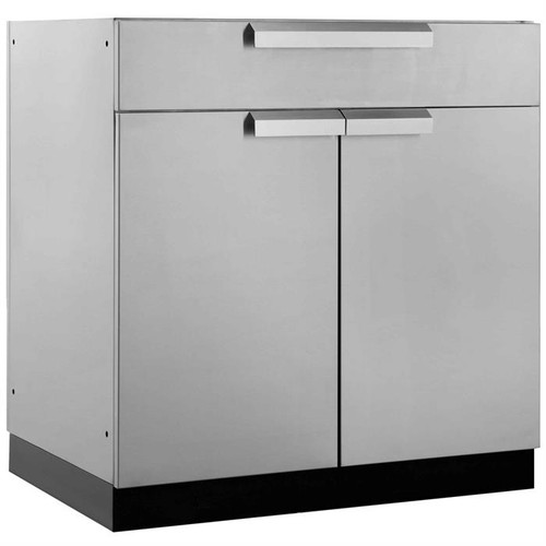 "NewAge Stainless Steel 32""W x 23""D Bar Cabinet"