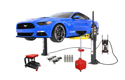 MaxJax M6K Portable Two-Post Garage Lift - Supreme Package