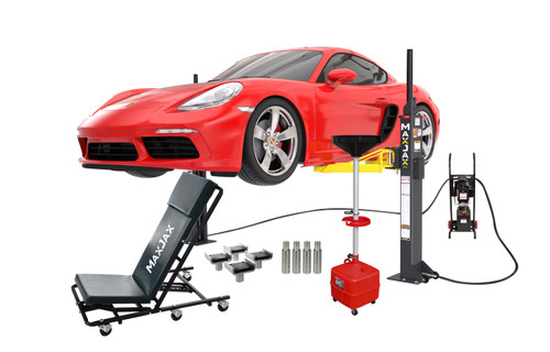 MaxJax M6K Portable Two-Post Garage Lift - Ultimate Package