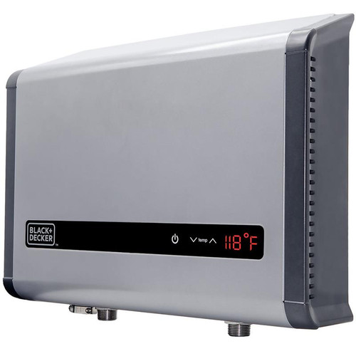 BLACK+DECKER 24 kW Self-Modulating 4.68 GPM Electric Tankless Water Heater, Multi-Application hot water heater electric