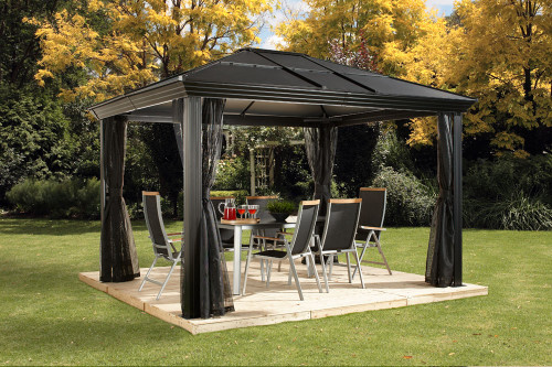 Sojag Cambridge 10x12 Hardtop Gazebo with Mosquito Netting