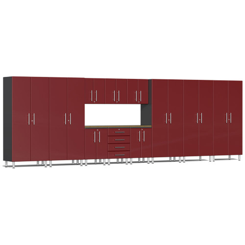 Ulti-MATE Garage 2.0 Series Red Metallic 12-Piece Set