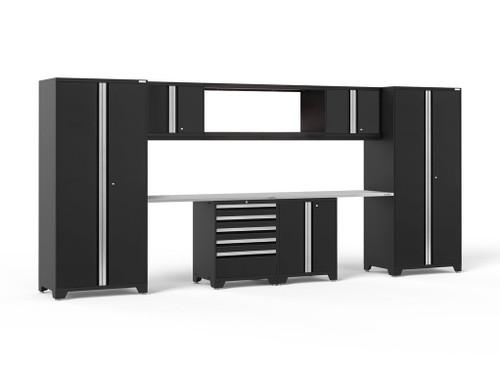 NewAge Pro 3.0 Black 9-Piece Set w/Stainless Steel Worktop
