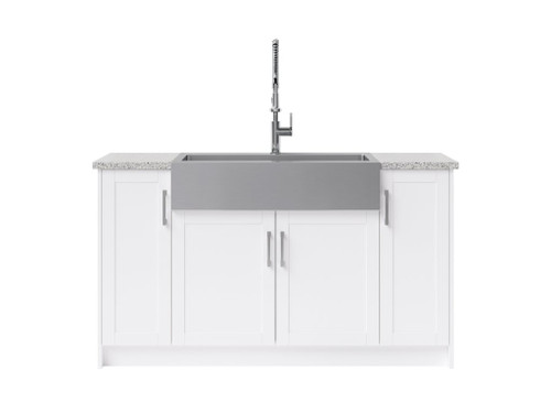 NewAge Laundry Room 7 Piece Cabinet Set with 36 in. Sink and Faucet - White
