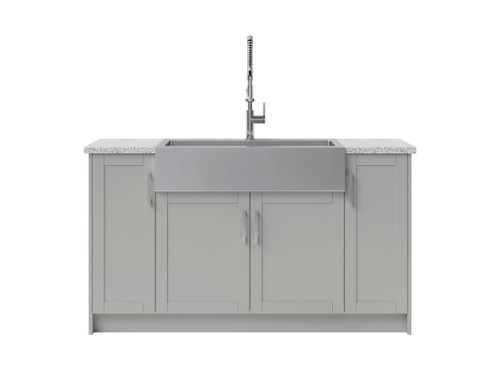 NewAge Laundry Room 7 Piece Cabinet Set with 36 in. Sink and Faucet - Gray