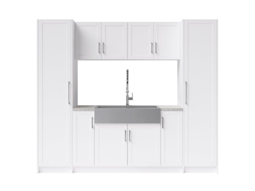 NewAge Laundry Room 11 Piece Cabinet Set with 36 in. Sink and Faucet - White