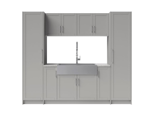 NewAge Laundry Room 11 Piece Cabinet Set with 36 in. Sink and Faucet - Gray