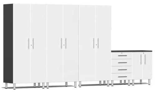 Ulti-MATE Garage 2.0 Series White Metallic 5-Piece Set