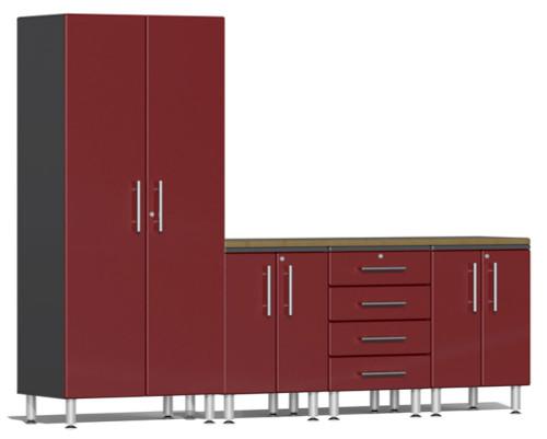 Ulti-MATE Garage 2.0 Series Red Metallic 5 Piece Set