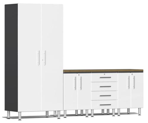 Ulti-MATE Garage 2.0 Series White Metallic 5 Piece Set