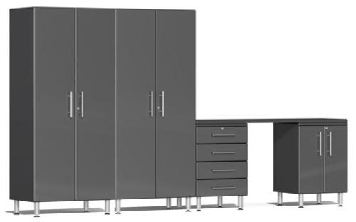 Ulti-MATE Garage 2.0 Series Grey Metallic 5 Piece Kit