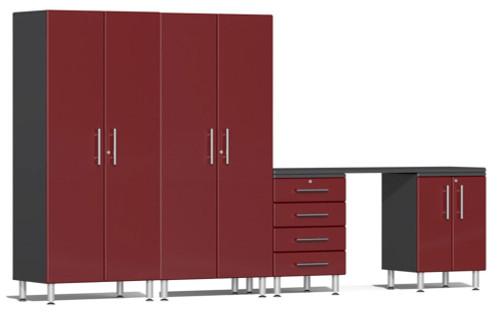 Ulti-MATE Garage 2.0 Series Red Metallic 5 Piece Kit