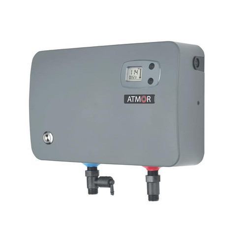 Atmor ThermoBoost 14kW/240V 2.3GPM Electric Tankless Water Heater / Booster, Self-Modulating On demand Water Heater