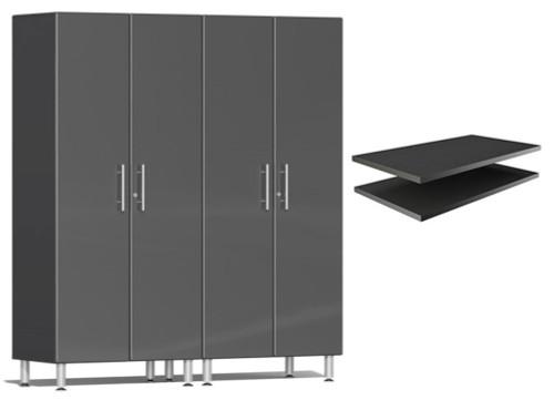 Ulti-MATE Garage 2.0 Series Grey Metallic 3-Piece Cabinet Bundle