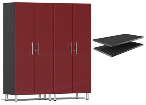 Ulti-MATE Garage 2.0 Series Red Metallic 3-Piece Cabinet Bundle