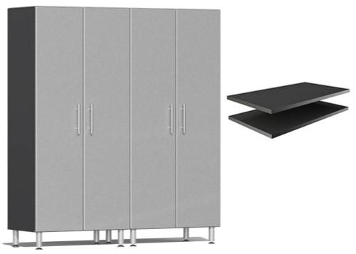 Ulti-MATE Garage 2.0 Series Silver Metallic 3-Piece Cabinet Bundle