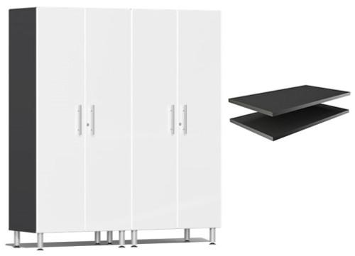 Ulti-MATE Garage 2.0 Series White Metallic 3-Piece Cabinet Bundle