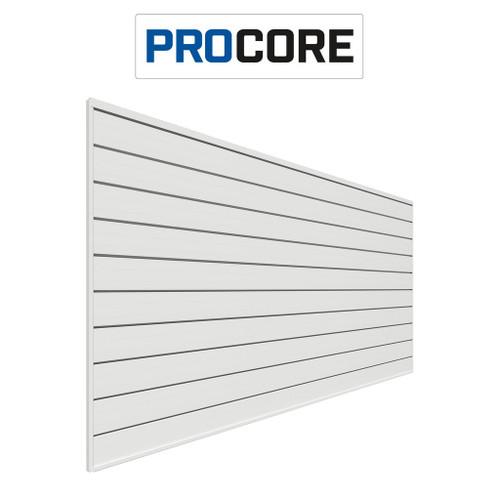 Proslat 8 ft. x 4 ft. PROCORE PVC Slatwall