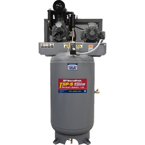 Bendpak TSP-5 Air Compressor / 5 HP / 80-Gallon Vertical Tank / Made in USA