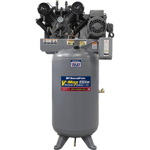 Bendpak VMP-7580V-601 V-Max Patriot Air Compressor / 7.5 HP, 1 Ph / 80-Gallon Vertical Tank / Made in USA