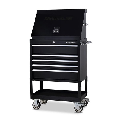 "Montezuma 30"" X 15"" Steel Triangle Toolbox and 30"" 5-Drawer Utility Cart Combo"