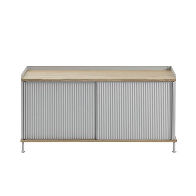 Muuto Enfold Sideboard Low in oak/grey