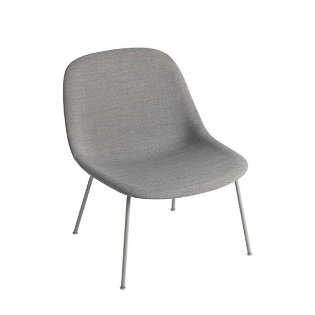 Muuto Fiber Lounge Chair Tube Base in Remix 133 seat / grey base