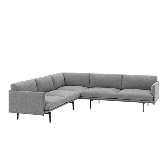 Muuto Outline Corner Sofa in Hallingdal 166