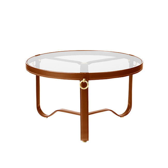 Gubi Adnet Coffee Table 70cm in tan