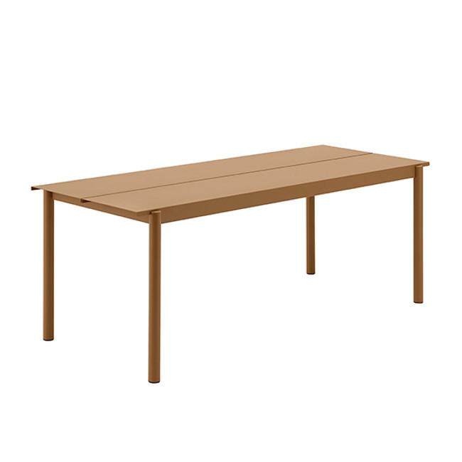 Muuto Linear Steel Table Large in burnt orange